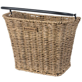 Basil Bremen Front Wheel Basket Includes BasEasy/with Klickfix Adapter Plate seagrass